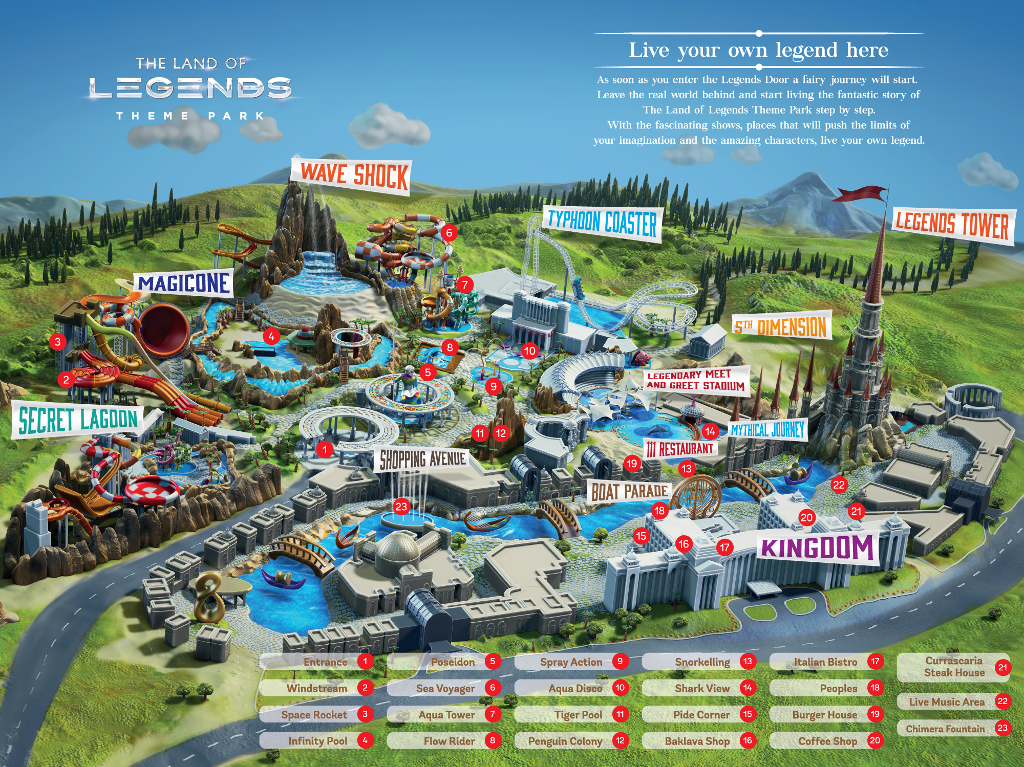 Rixos Land Of Legend map